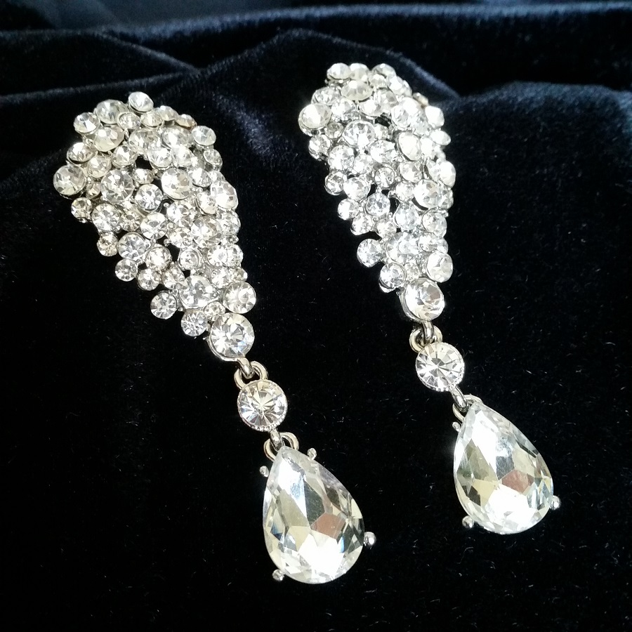 Diamante Bikini Competition Earrings