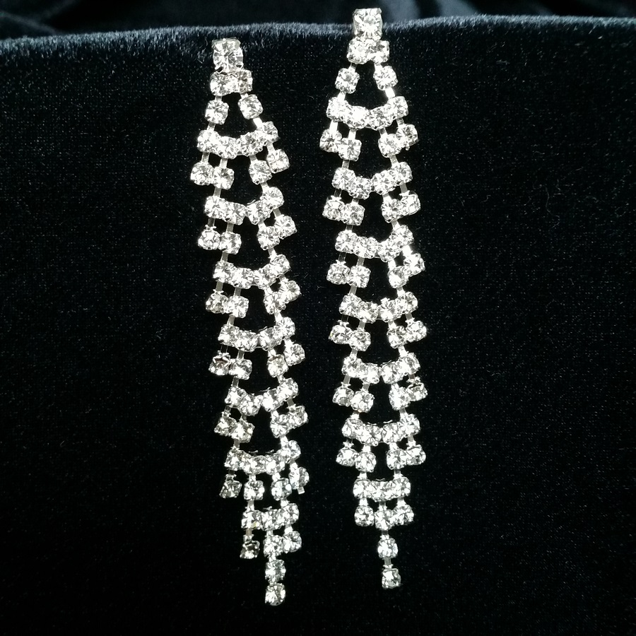 Diamante Earrings Stage Jewellery